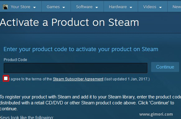 activate steam key browser